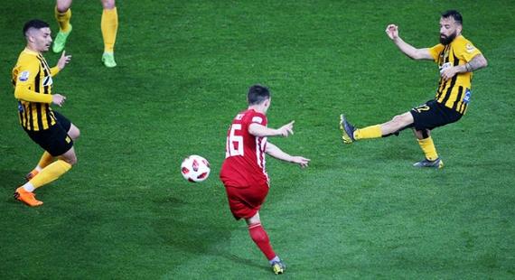 Ολυμπιακός - ΑΡΗΣ 4-1   Έλλειψη αποτελεσματικότητας, ατυχία και βαριά ήττα